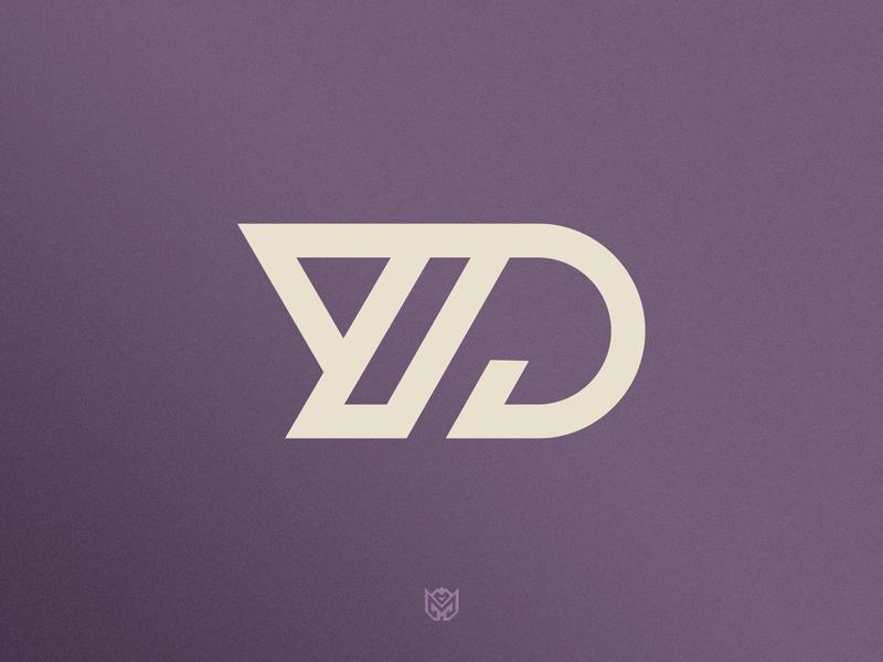 YD Logo Design lettering website type artist flat designer web ux ui vector icon illustration typography design brand logotype logo identity branding gaming