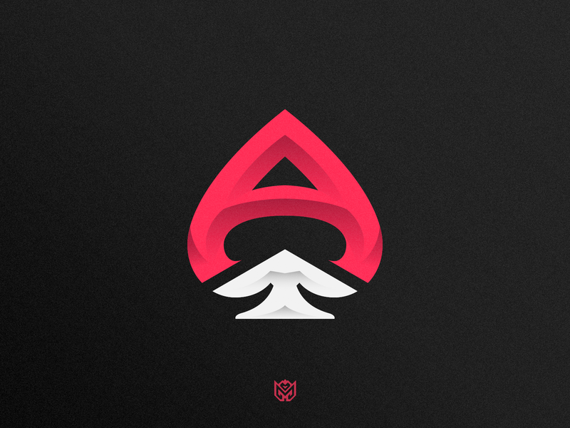 Ace of Spades // MLGACE ace of spades spade spades letter a a aces ace illustration sports game brand logotype logo identity esports branding gaming