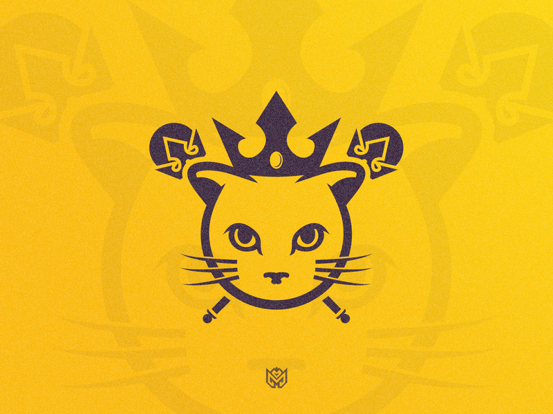 Queen Kitty | FOR SALE diamond design illustration crown queen royal kitty cat brand logotype logo identity esports branding gaming