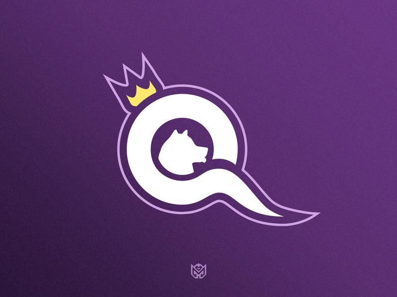 Q Crown logotype identity logo dog q logo crown q designer