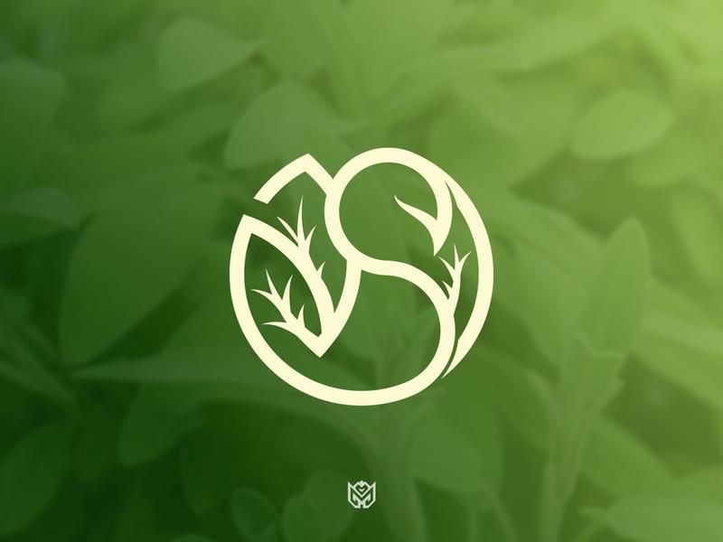 Sage typography concept unused logomark iconmark icon leaf flower plant logo s logo sage plant game brand logotype logo esports identity branding gaming
