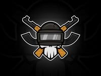 DeddPUBG wood skull guns ak47 pubg twitch.tv twitch streamer esports logo identity branding gaming