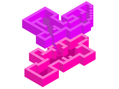 Isometric Levels first shot bright colors isometric