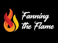 Fanning the Flame 2018 church marketing logo branding fire sermon logo church design church