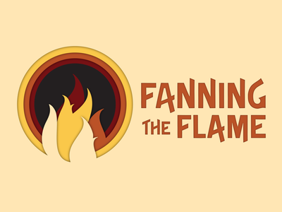 Fanning the Flame sermon series fire illustration sermon logo church logo sermon design church