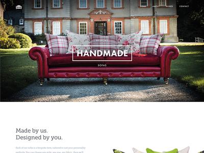 Homepage Design landing design web clean minimal photography futura tisa furniture