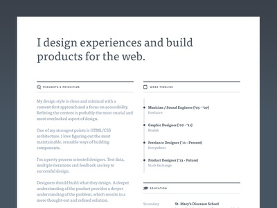 Resume Redesign