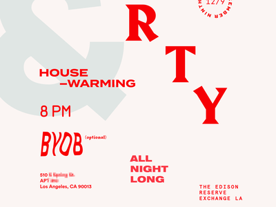 Housewarming Holiday Party Invite holiday invite poster design typography