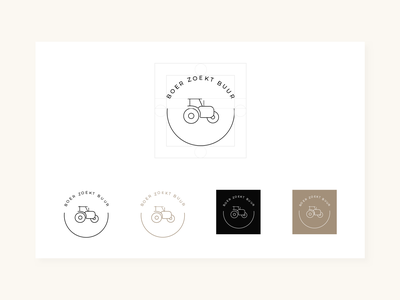 Boer zoekt buur | Branding tractors farm farmers market farmer web uxdesign uidesign illustration typography icon vector logo design branding