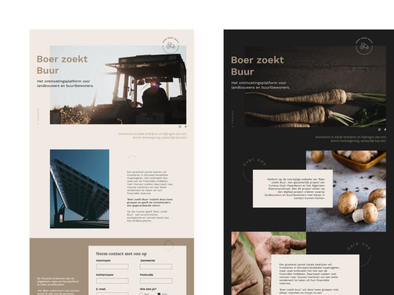 Boer zoekt buur | Branding tractors test nature farm tractor web vector logo ui pastel branding uxdesign uidesign
