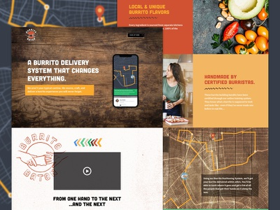 Burrito Baton Website april fools website design handmade fresh texture logo landing page food delivery burrito