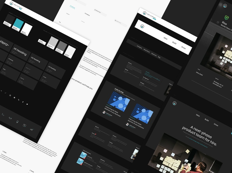 HDWY 2.0 Design System brand ux scale figma frontend component website design system headway ui