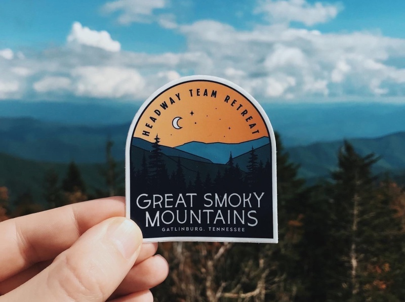 Headway Retreat Swag - September 2019 swag sticker water bottle clothing team agency design tennessee smoky mountains
