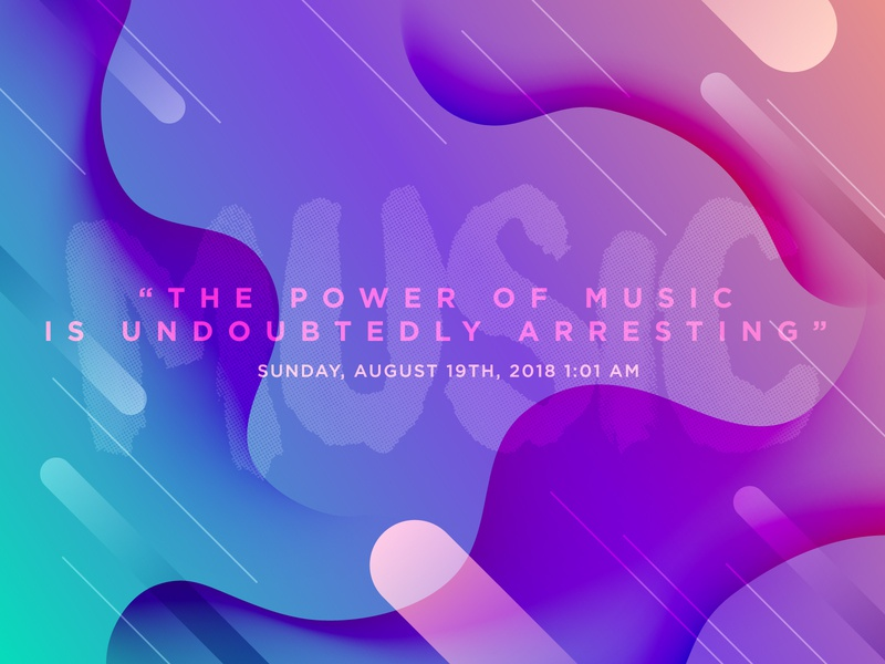 """The power of music..."" [Journal Design Challenge 5/7] music art quotes journal daily design challenge gradient music typography"