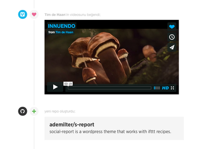 s-report theme theme timeline like social ifttt