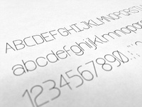 Grid Based Font