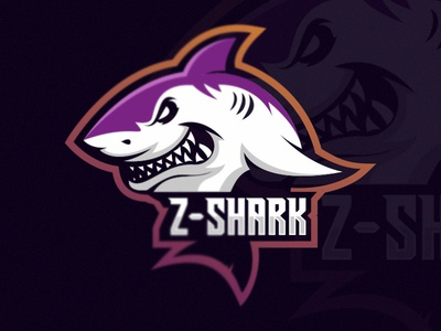 Shark Esport Logo Gaming Team
