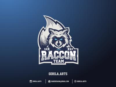 Raccon Esport Logo Gaming Dribbble