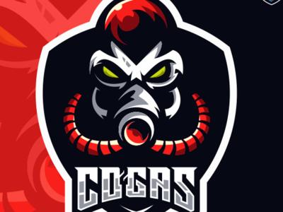 Mask Gas Esports Logo Gaming Team