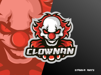 Clown Esport Logo Gaming Team