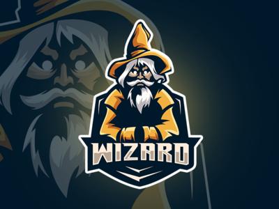 Wizard Esport Logo Gaming