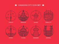 Canadian City Icon Set