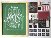 Chalkboard Lettering Stationery Set
