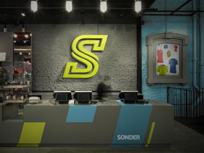 Sonder - Sport Clothing Brand branding identity logo sport nemetz movement store athlete dynamic nike adidas argentina
