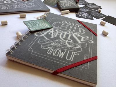 Chalkboard Lettering Stationery Set nemetz chalkboard typography lettering stationery paper calendar notebook sketchbook