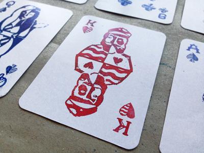 King king nemetz sea lettering illustration stamps sailor poker deck cards crafts