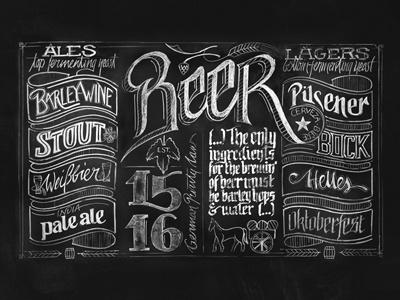 Beer Chalkboard  beer germany chalkboard lettering nemetz typography wallpaper wallmural australia oktoberfest bar pizza