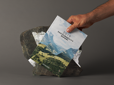 Swarovski Sustainability Report layout print infographic csr annual report sustainability editorial design