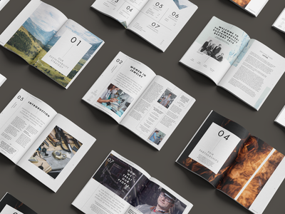 Pages data reporting design print layout editorial report sustainability