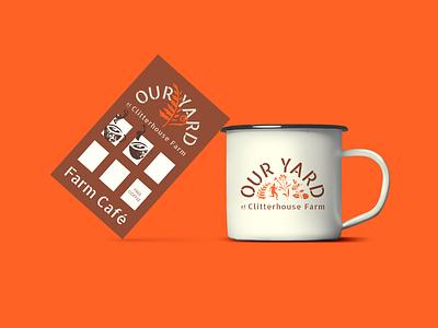 Our Yard: Coffee cup community garden farm london stencil flexible logo loyalty card community cup coffee identity branding