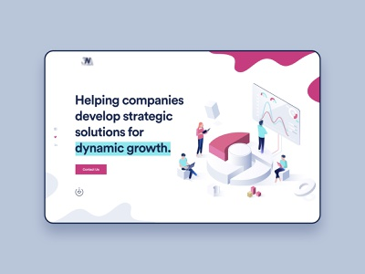 Digital Agency Header Design website webdesign ux ui typogaphy startup monimal illustration header digital creative corporate colorful character business branding agency