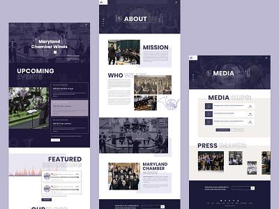 Maryland Wind Festival Design website web ux ui musician music landingpage event donate clean