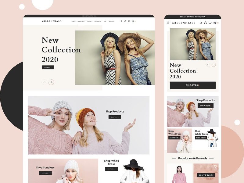 Fashion Landing Page interface branding shop lookbook mobile dextop clean clothing webdesign ux ui typography product design modern minimal landing page fashion ecommerce checkout cart