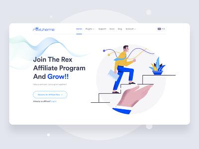 Affiliate Program Header Design website webdesign ux ui typogaphy illustraion header creative corporate business