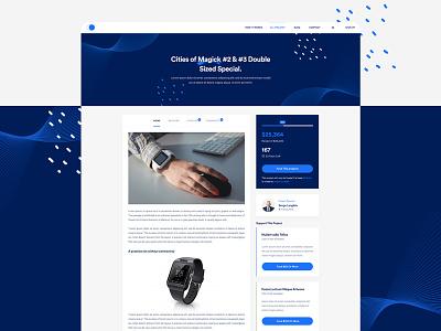 Crowdfunding Exploration website web ux ui minimal experience design crowdfunding clean