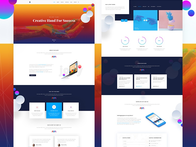 Joy Corporate Template responsive business html psd corporate