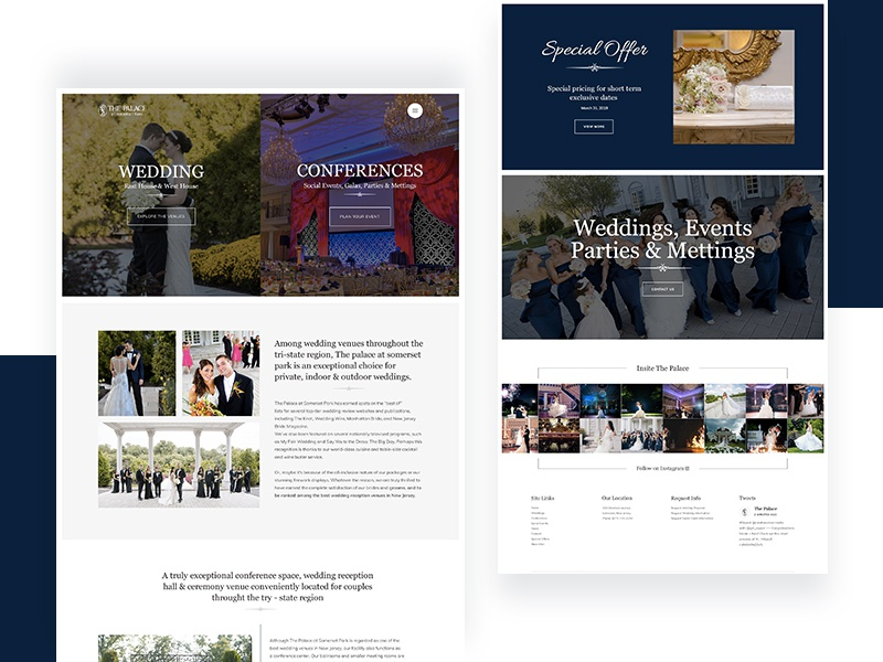 The Palace Website website web ux ui typography minimal homepage design clean