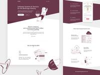 Beverage Industry Landing Page