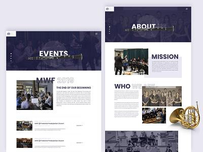 About Us & Event page design website web ux ui musician landingpage event donate clean