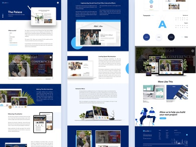 Palace - Website - Case Study palace ui typogaphy conference wedding website landing page design case study