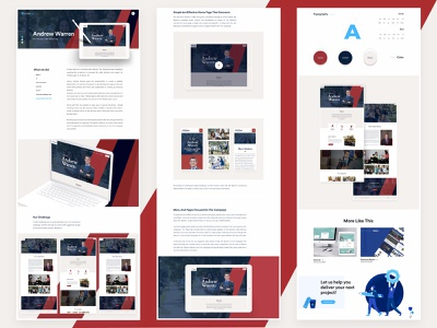 Andrew Warren - Website - Case Study volunteer web website ui landing clean design political case study