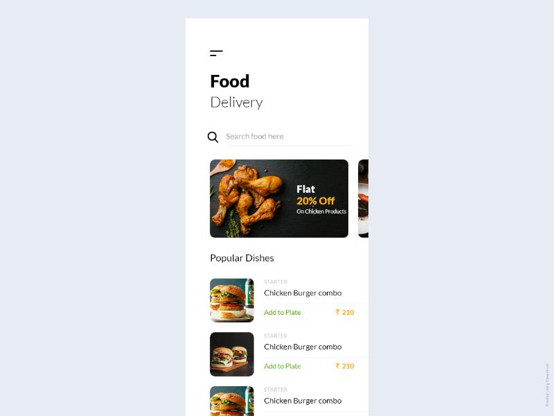 Food Ordering App ios android app colorscheme search slider design font daily ui dashboard ui food app restaurant app food order