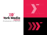 York Media Logo creative logo clean  creative brand concept art best of dribbble modern art graphic designer creativebanda identity design branding yellow