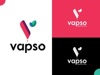 Vapso Innovation Logo logo designer creative logo brand clean  creative best of dribbble identity design creativebanda graphic designer branding logo