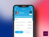 Wallet App Mockup Design