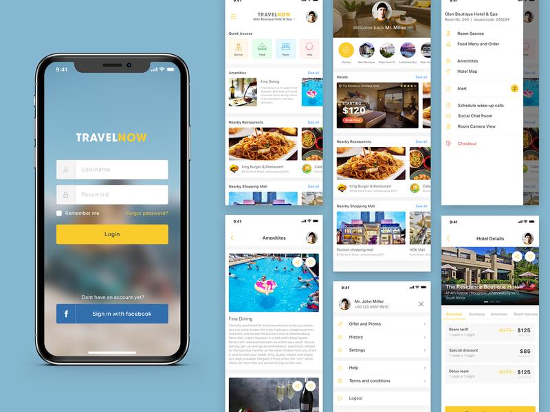 Travel App app ux ui modern inspiration mockup layout mobile simple trip booking restaurant app hotel app design design inspiration design travel app tourism tour travel